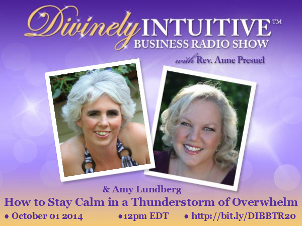 Divinely Intuitive Business Radio Show with Rev. Anne Presuel and Amy Lundberg