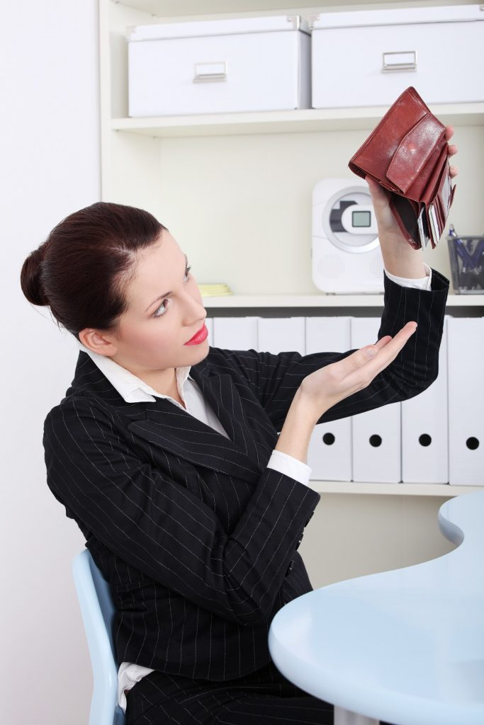Business Woman Divinely Broke