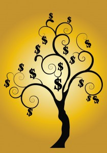 http://www.dreamstime.com/stock-photos-money-tree-gold-background-image13773743