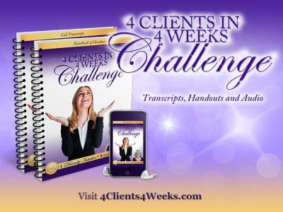 4 Clients in 4 Weeks Challenge